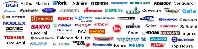 Trabajamos con las principales marcas